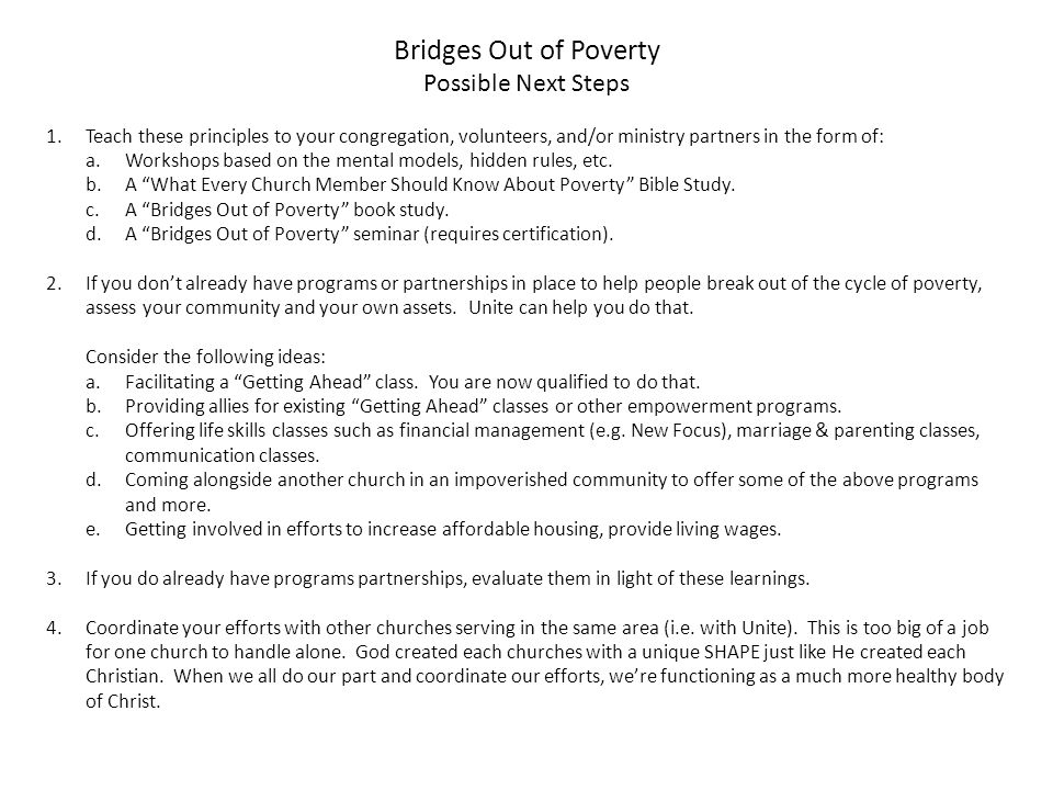 Bridges Out of Poverty Background 1.Dr. Ruby Payne married a man ...