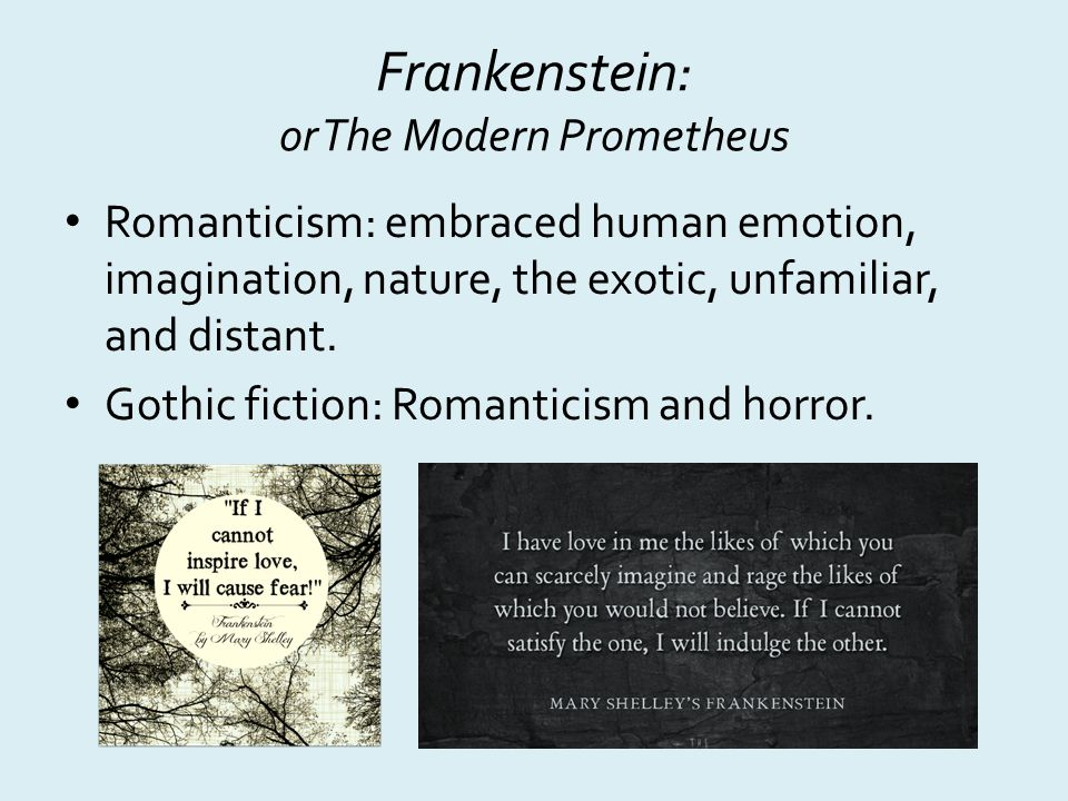 frankenstein romanticism Title: the romantic form of mary shelley's frankenstein created date: 20160808230119z.