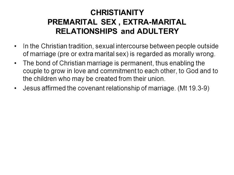 Christian view on premarital sex