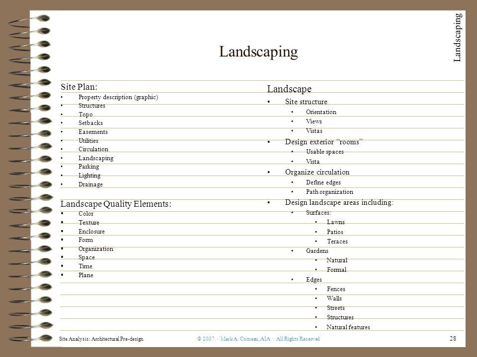 Site Analysis: Architectural Pre-design© 2007 · Mark A.