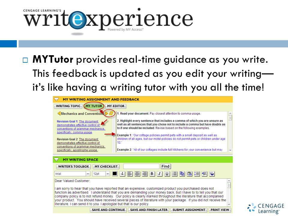  MYTutor provides real-time guidance as you write.