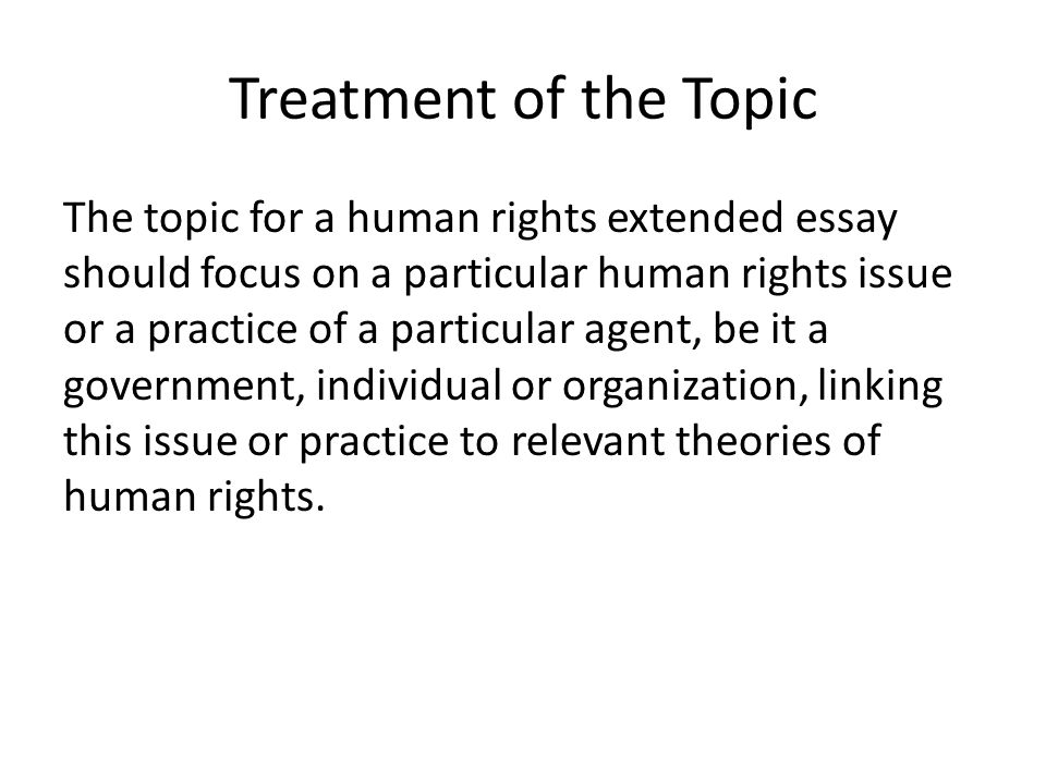 Human Right Essay