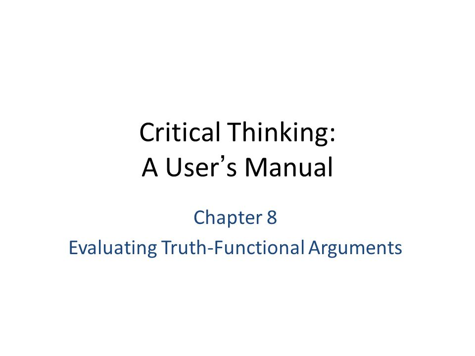 Critical thinking evaluation and deduction assignment