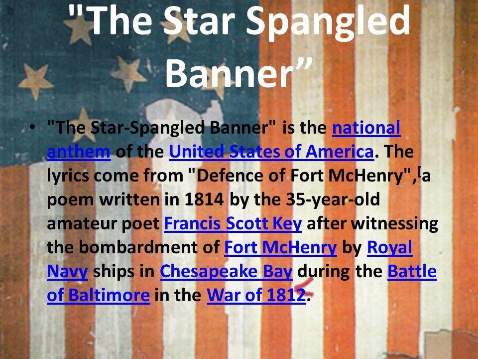 """Lyric star banner lyrics : The Star Spangled Banner"""""""