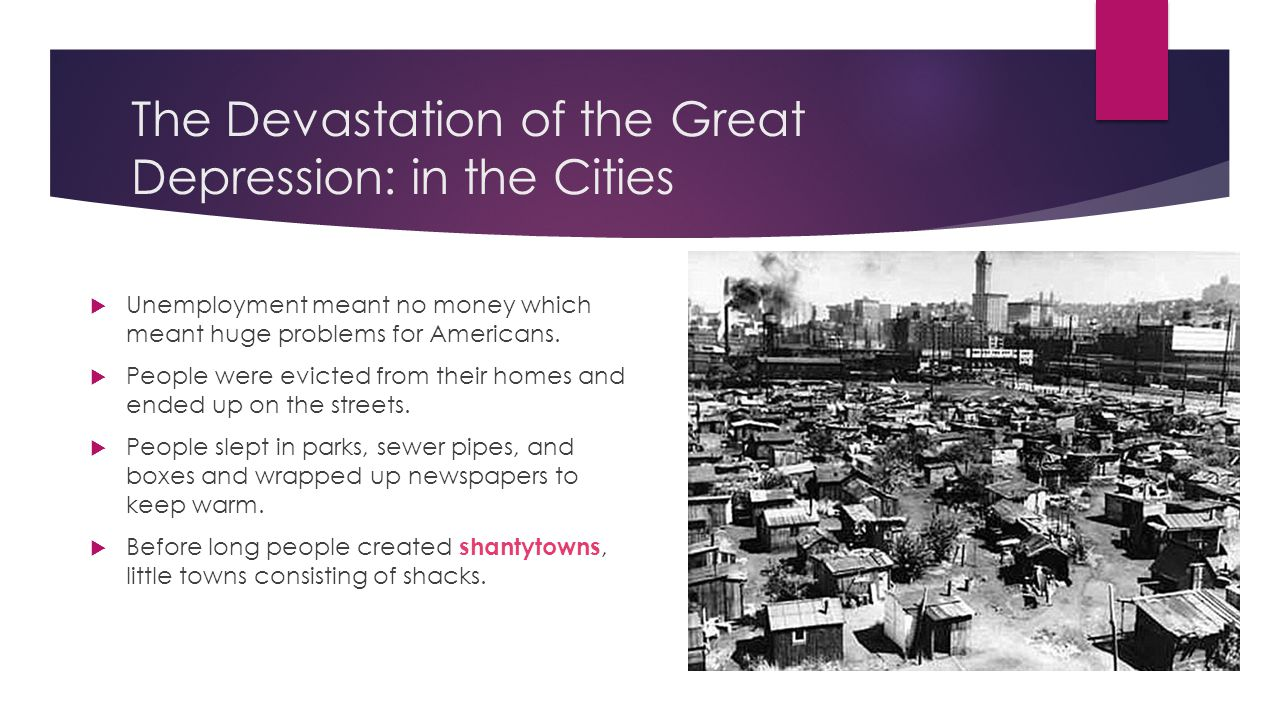 the great depression swbat explain the effect the great 2 the devastation