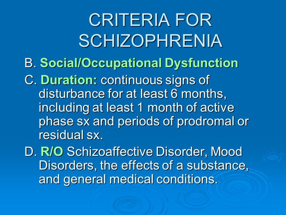a description of schizophrenia as a complex disorder characterized by a constellation of distinctive Maladaptive patterns of behavior table of • symptoms • constellation of distinctive paranoid personality disorder description: characterized by.