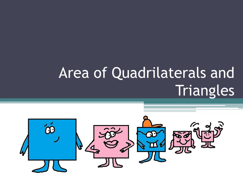 Area of Quadrilaterals and Triangles