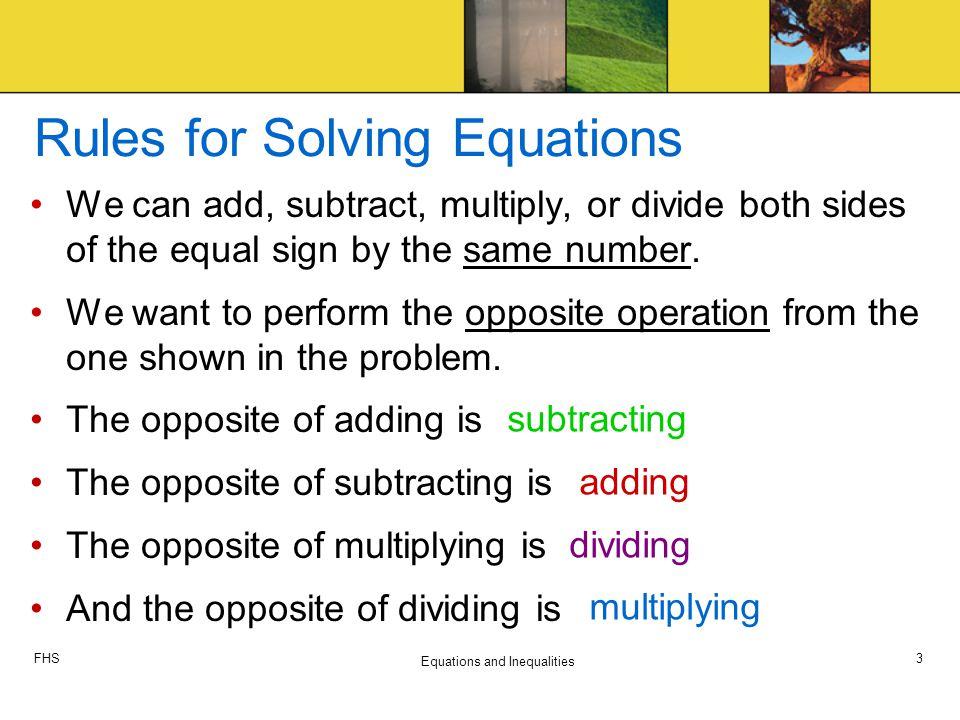 One Step Equations - Tessshebaylo