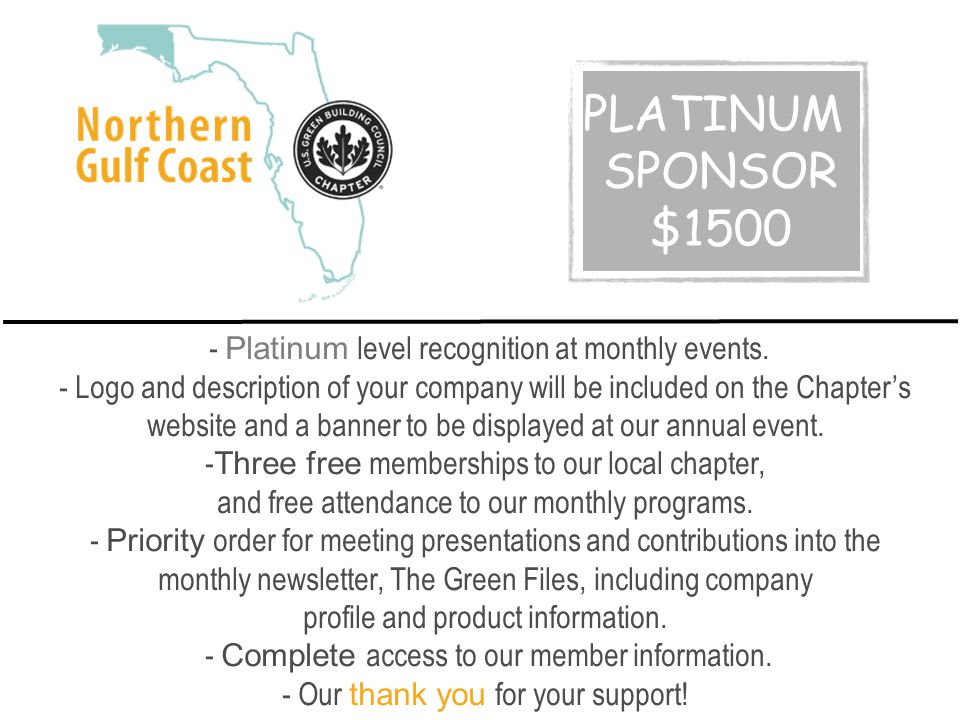 - Platinum level recognition at monthly events.