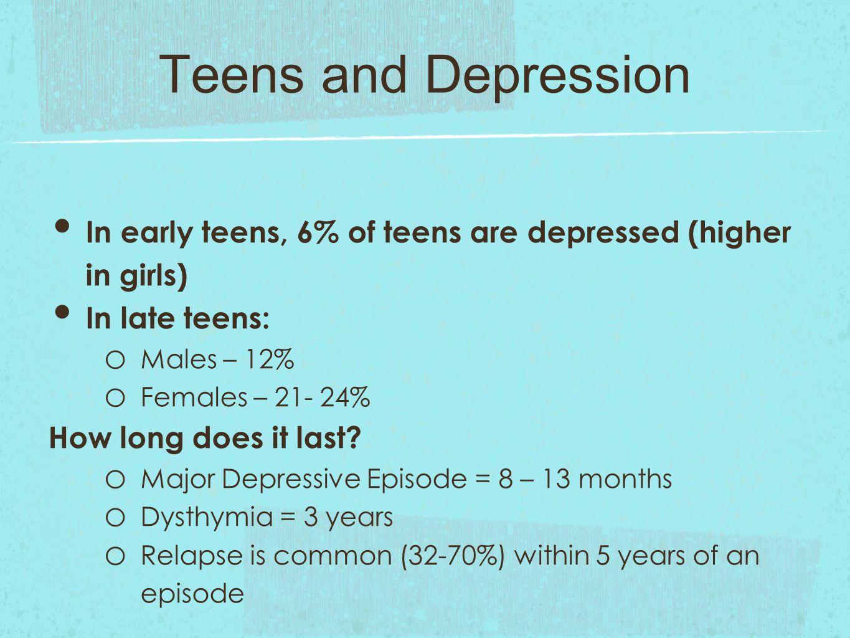 in teens dysthymia