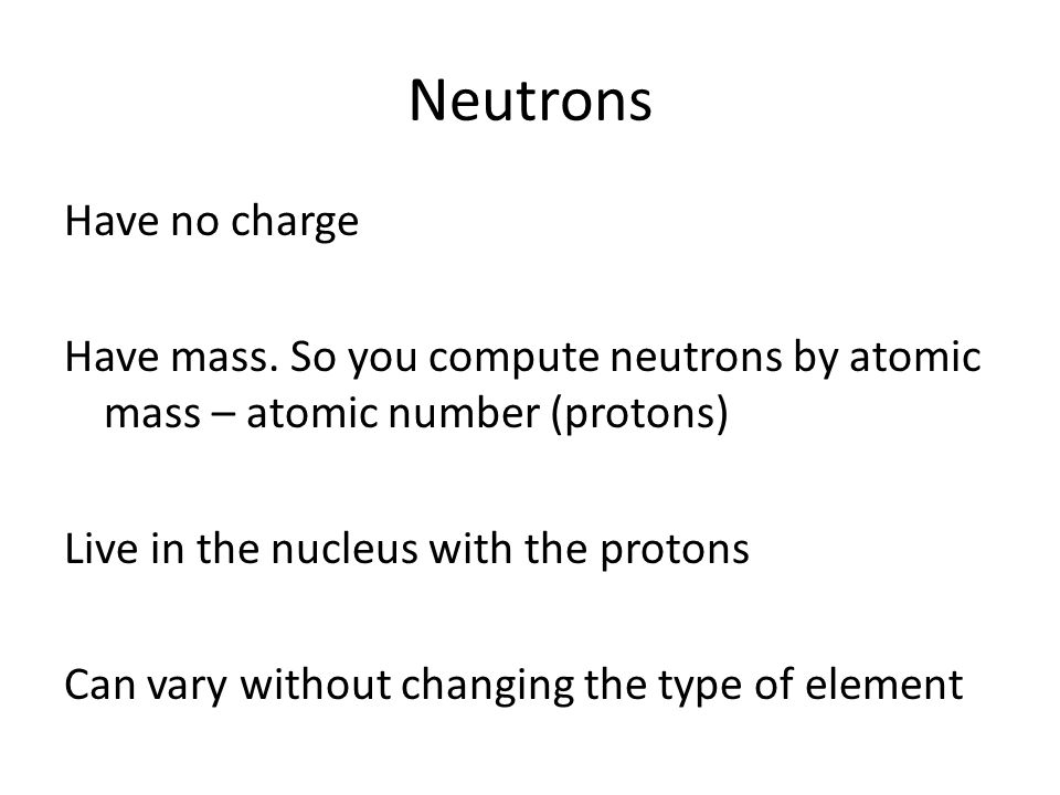 Atomic structure periodic table atoms the smallest part of an neutrons have no charge have mass urtaz Gallery