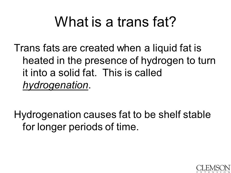 What is a trans fat.