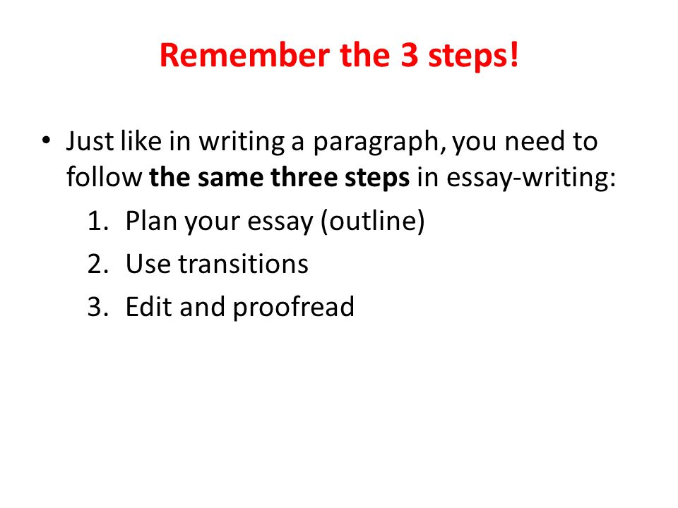 5 paragraph essay with transitions