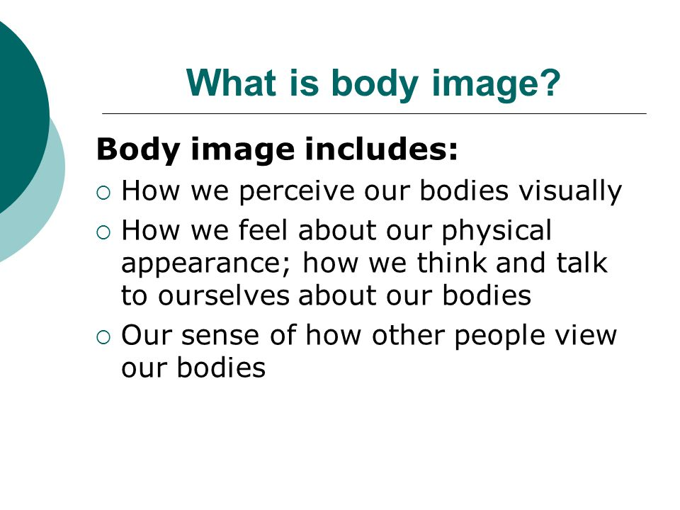 What is body image.