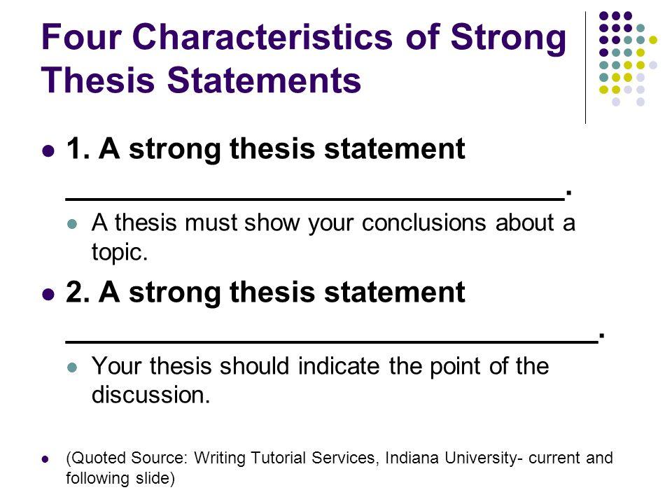 characteristics and statement