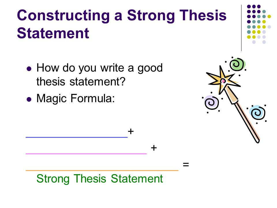 What is the purpose of statement of the problem in thesis six days