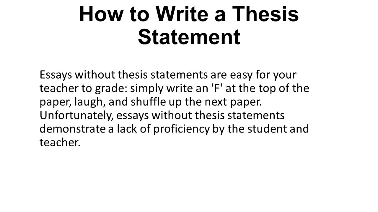 I need a little help writing a thesis statement for my research paper?