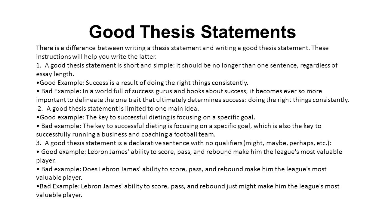 What is a thesis statement in an essay thesis statement for process