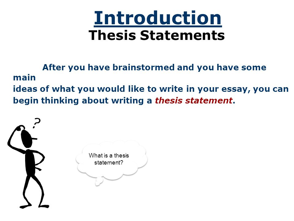 thesis statement in abstract or introduction
