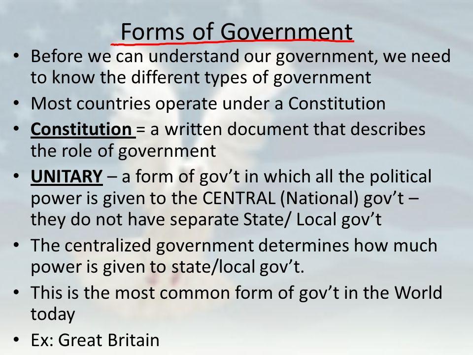 What is Government. Government Government – The formal definition ...