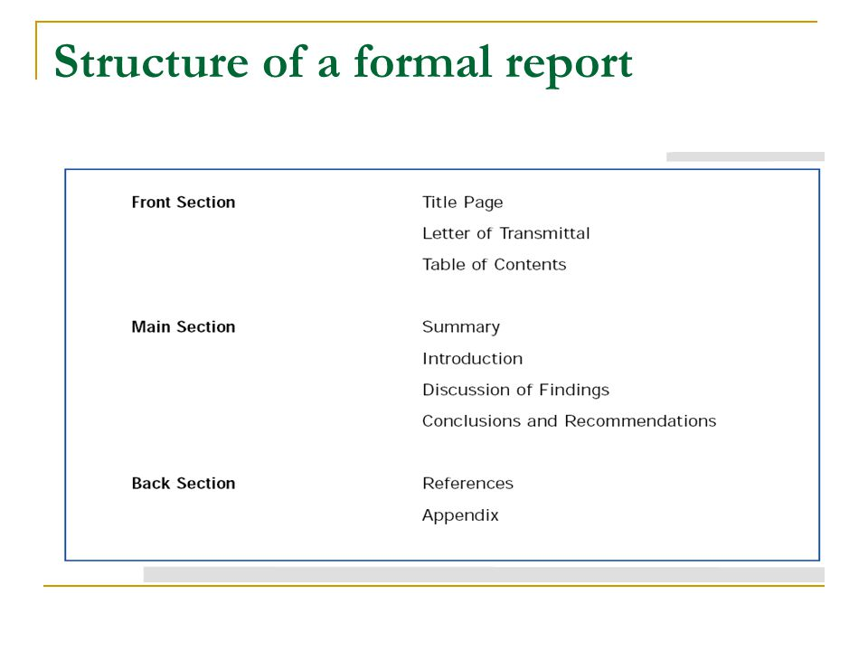 Doc Formal Report Format Sample How to write a formal – Formal Report Template