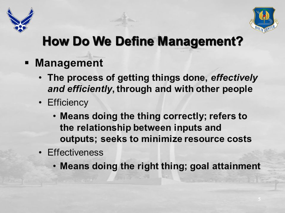 55 How Do We Define Management.