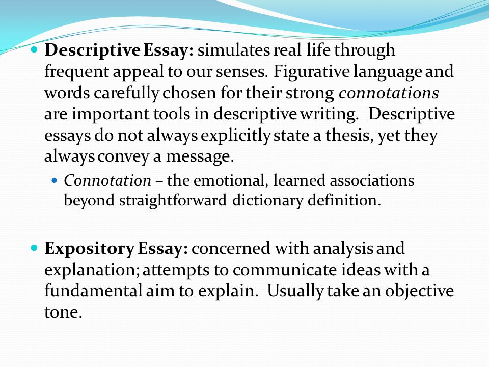 Descriptive Essay Conclusion