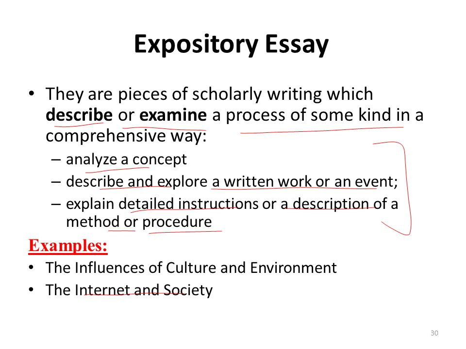 expository essay explaining a process The intention of an expository essay is to present, reasonably and absolutely, other people's opinion or views to report about an event or any experience expository writing presents an area under discussion in detail apart from criticism, argument, or improvement.