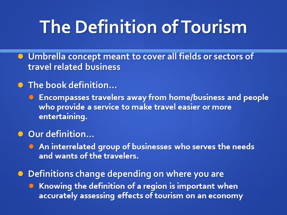 introduction of tourism Start studying introduction to tourism- exam #1 learn vocabulary, terms, and more with flashcards, games, and other study tools.