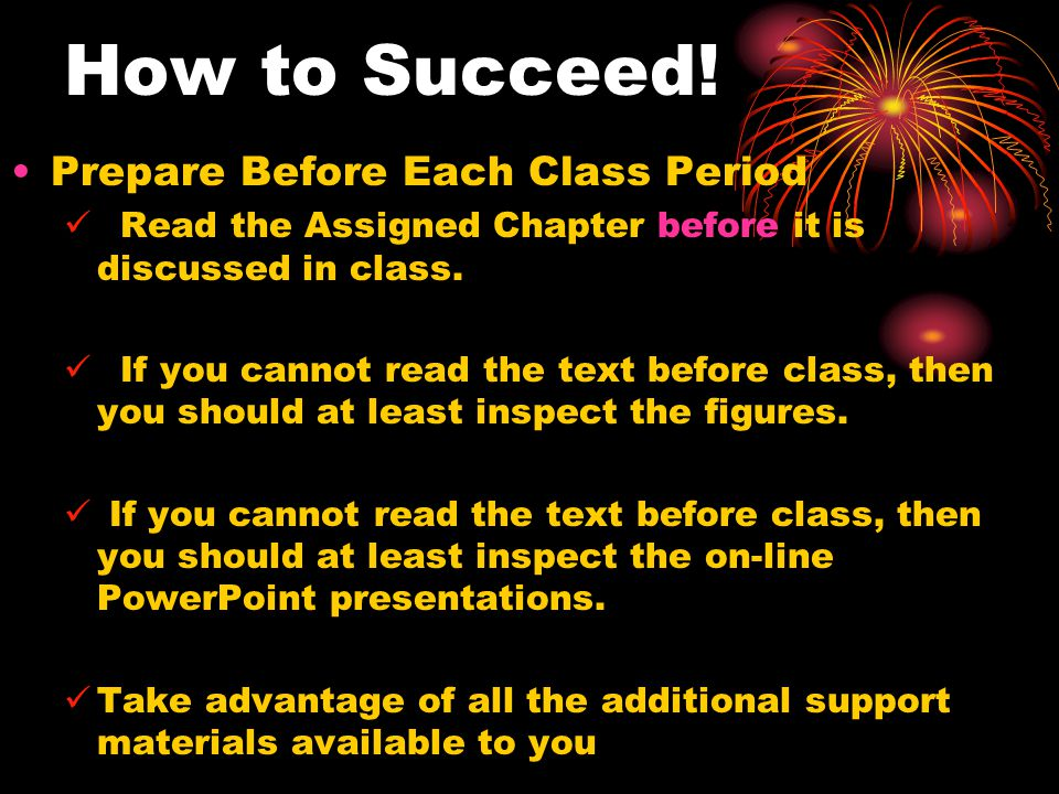 How to Succeed.