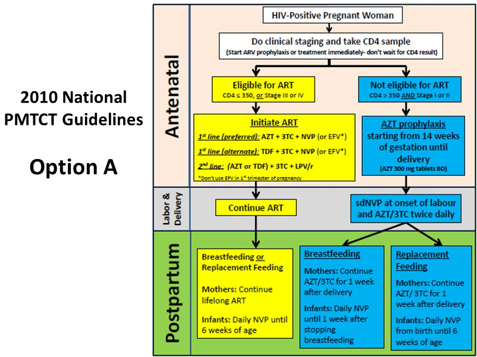 11 2010 National PMTCT Guidelines Option A