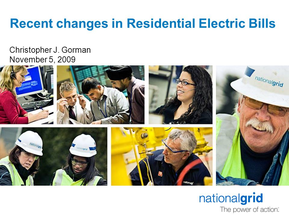 Recent changes in Residential Electric Bills Christopher J. Gorman November 5, 2009