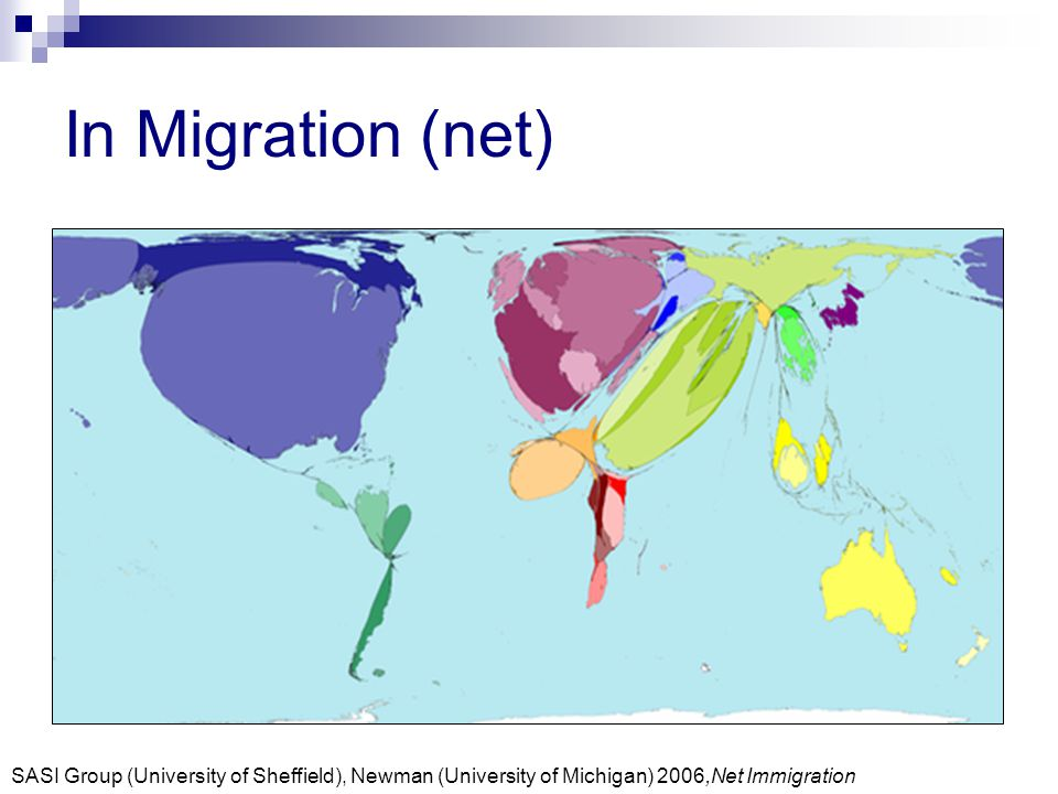 In Migration (net) SASI Group (University of Sheffield), Newman (University of Michigan) 2006,Net Immigration