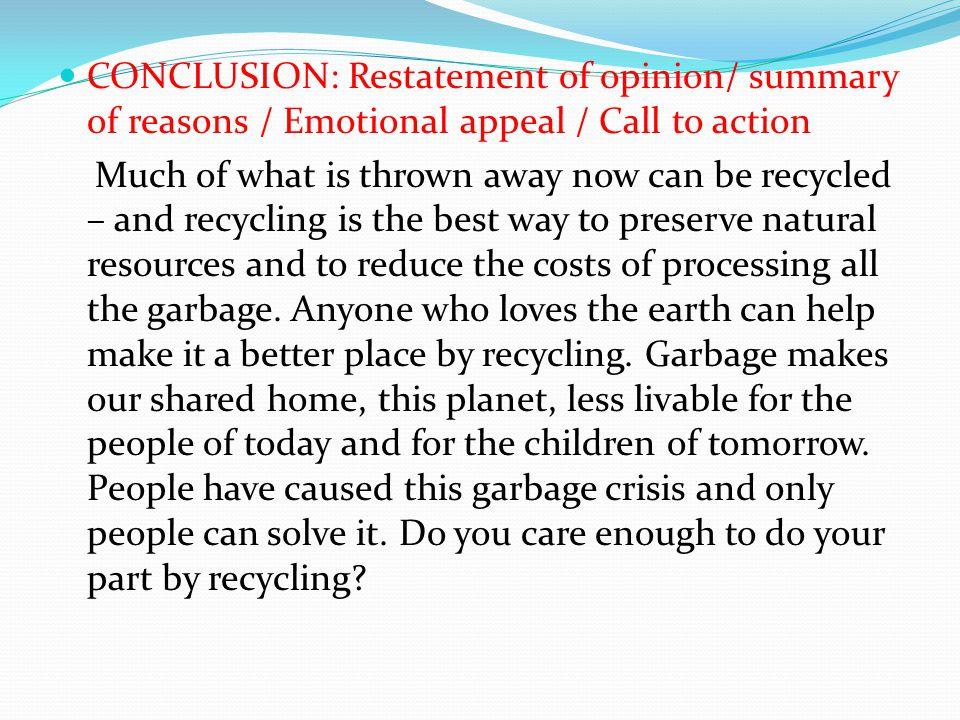 Conclusion Of Persuasive Essay
