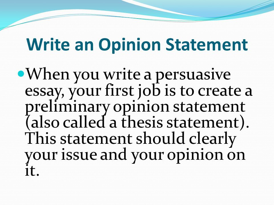 Speech Thesis Statement Generator