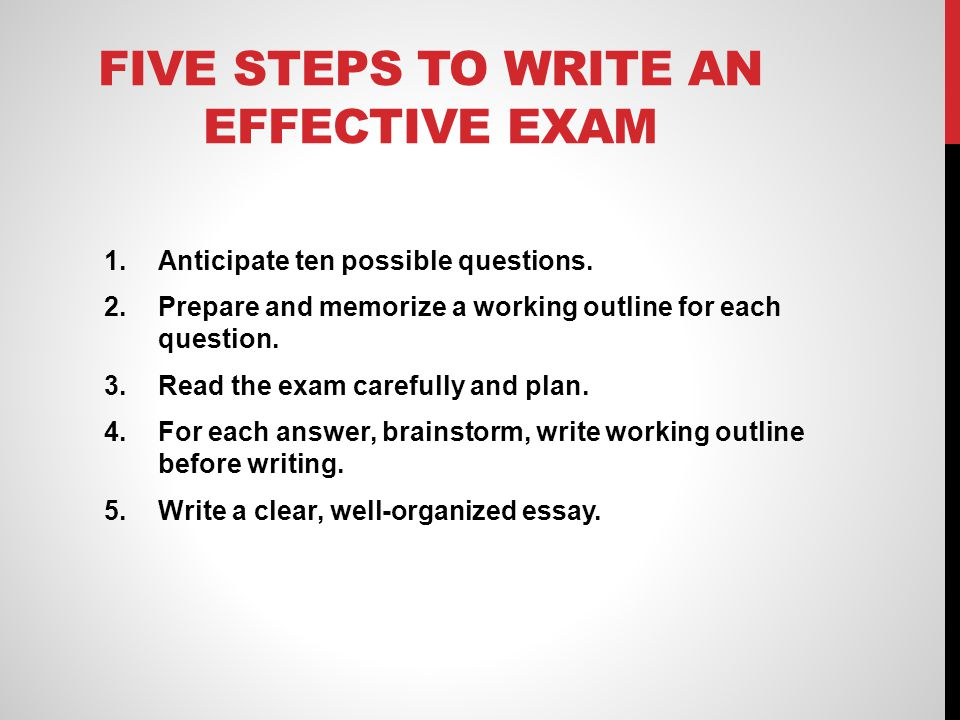five steps to write an essay The ultimate guide to writing perfect research papers, essays a research guide for students plagiarism step 5 organize your notes.