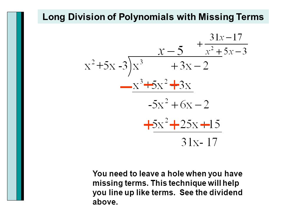Dividing A Polynomial By A Binomial Using Long Division Calculator – Long Division Polynomials Worksheet