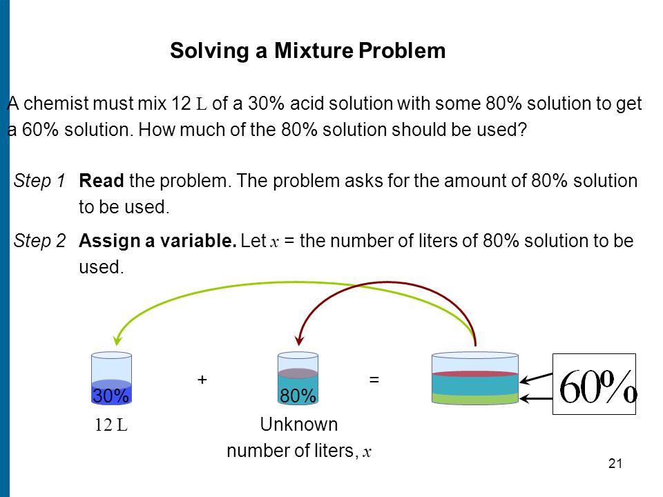Solving a mixture problem