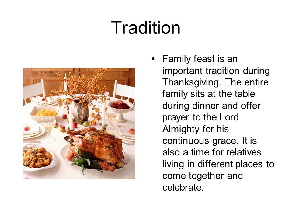 the importance of traditions