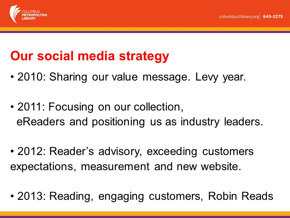 Our social media strategy 2010: Sharing our value message.
