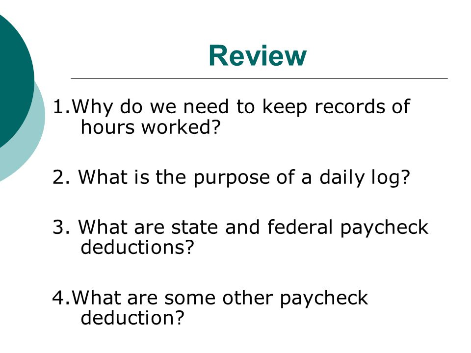 What are some other paycheck deductions.