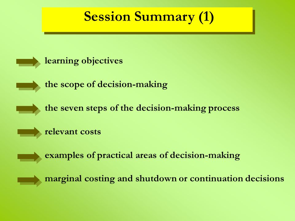 decision making process summary A brief history of decision making ai was intended both to help researchers understand how the brain makes decisions and to augment the decision-making process.