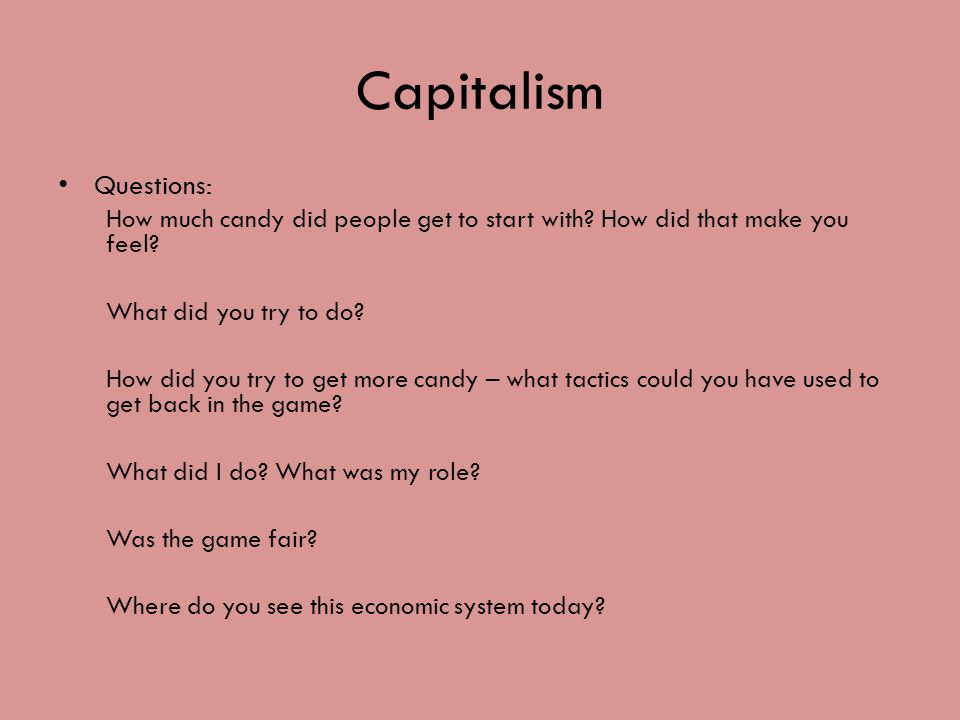 economic systems through cows and candy what is an economic 5 scenario