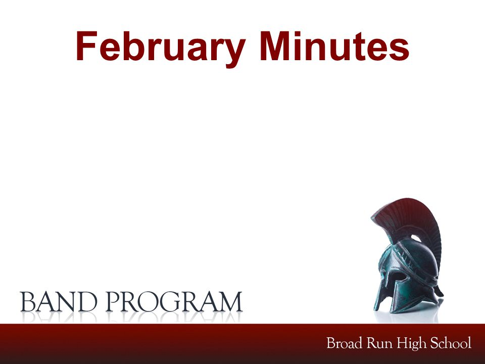 February Minutes