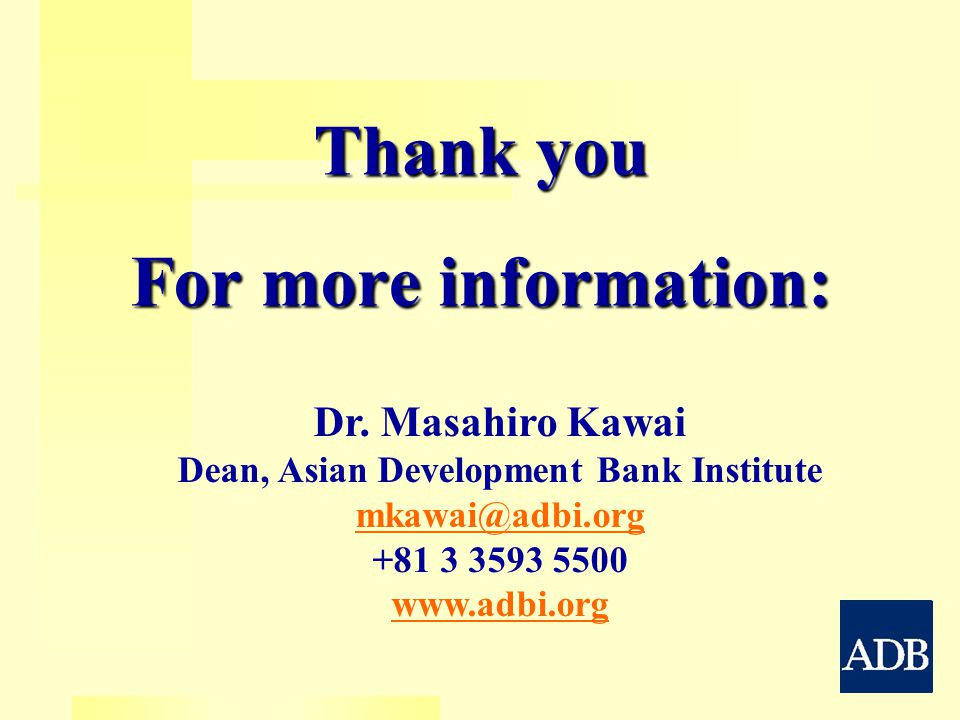 Thank you For more information: Dr.