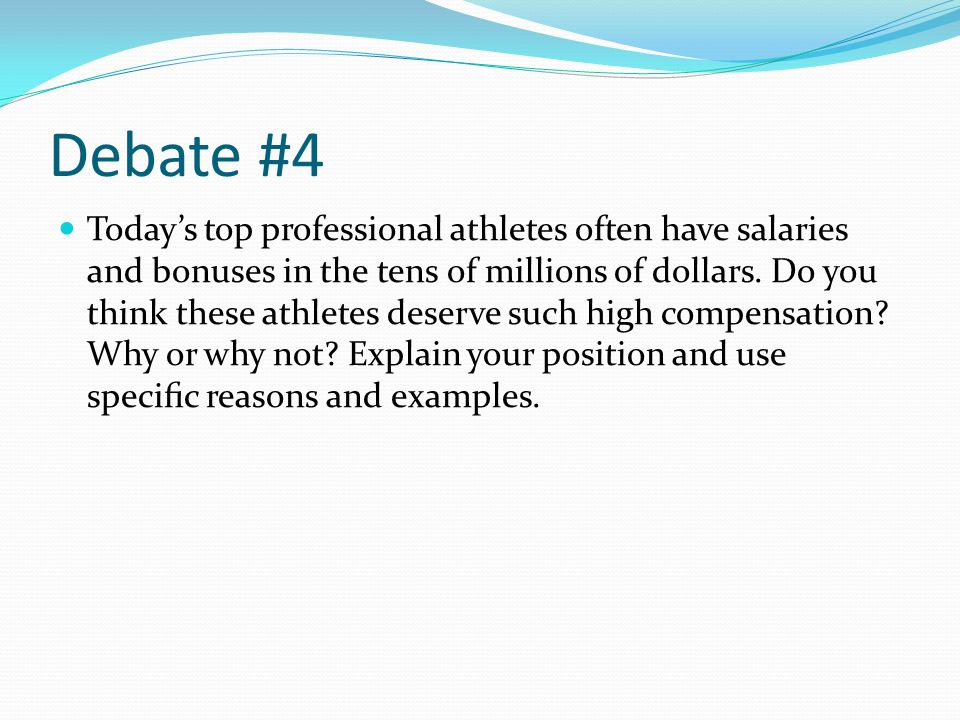 athletes paid too much thesis Overpaid professional athletes the topic i chose for my essay is overpaid professional athletesi chose this topic because i think athletes are getting paid way too much.