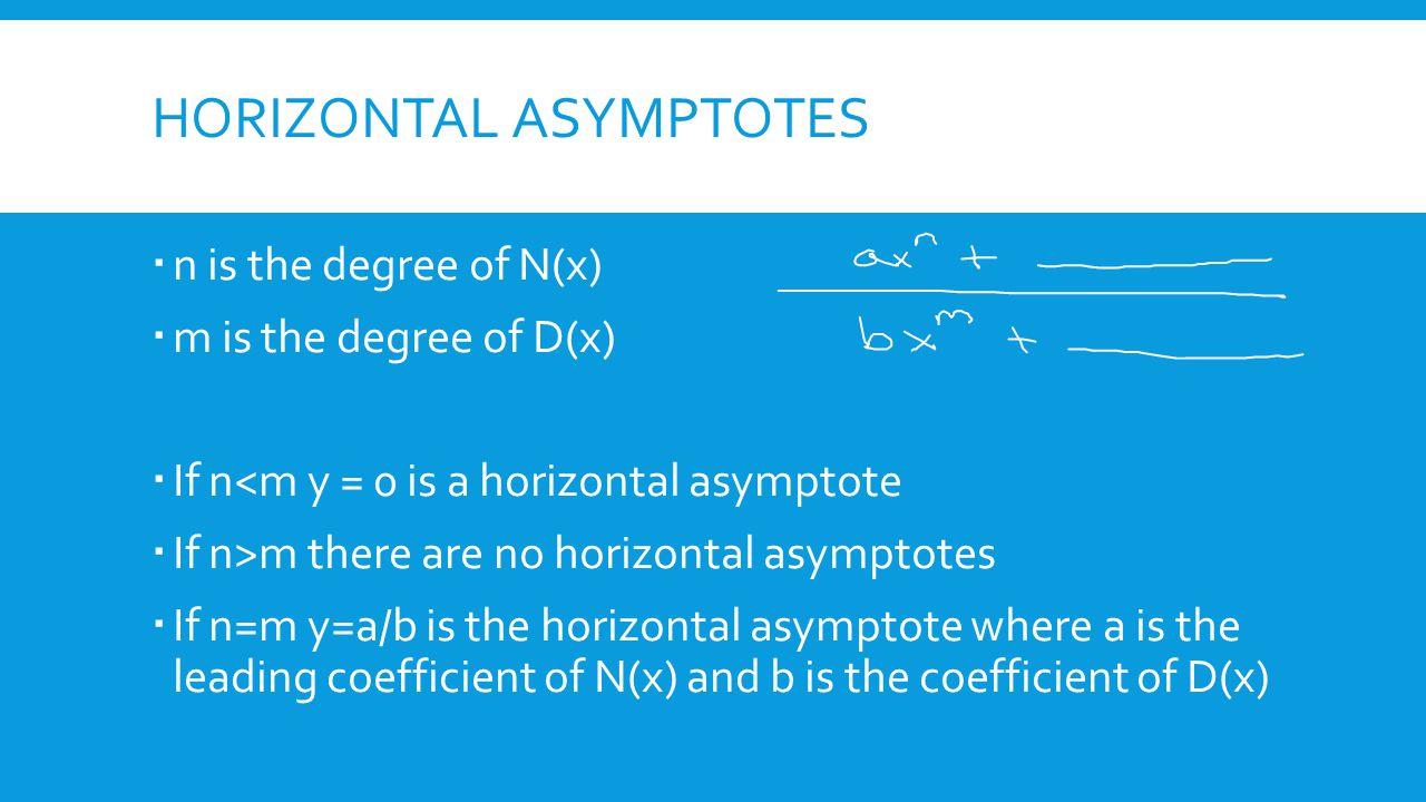 5 Horizontal Asymptotes