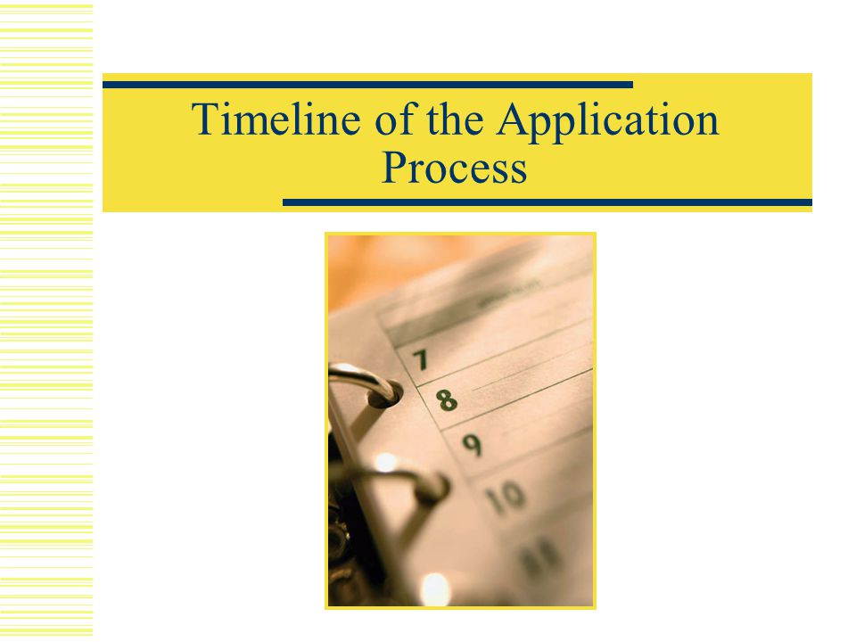 Timeline of the Application Process