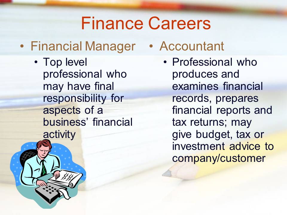 Standard 2: Functions of A Business EQ 1B: What are The Careers in The Accounting and Finance Field