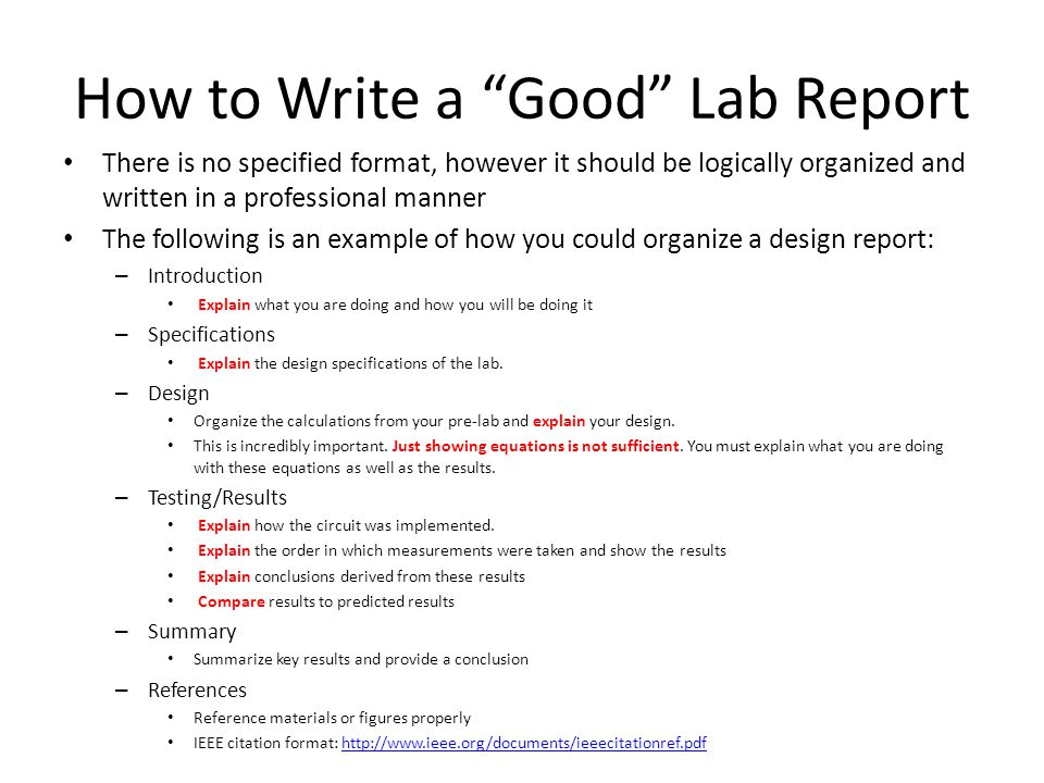 Lab Report Templates   Free Sample  Example  Format   Free        pages LAB REPORT get started